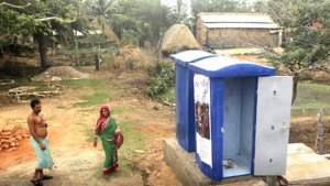 The toilets are so small and air-tight that a person feels suffocated after a few minutes. There is no system for air circulation, says villagers. PTI photo