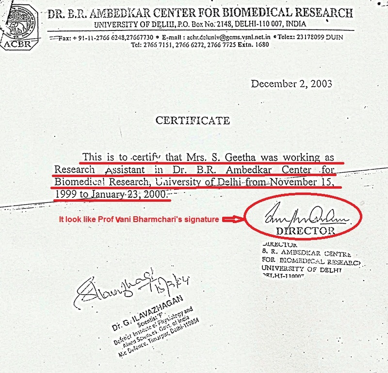 Fake Experience Certificate Issued From Dr.B.R.Ambedkar