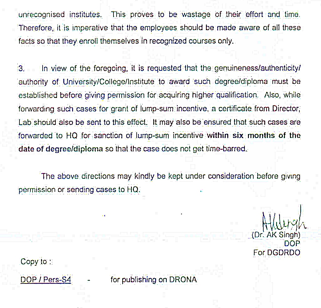 fake degree dop letter page2