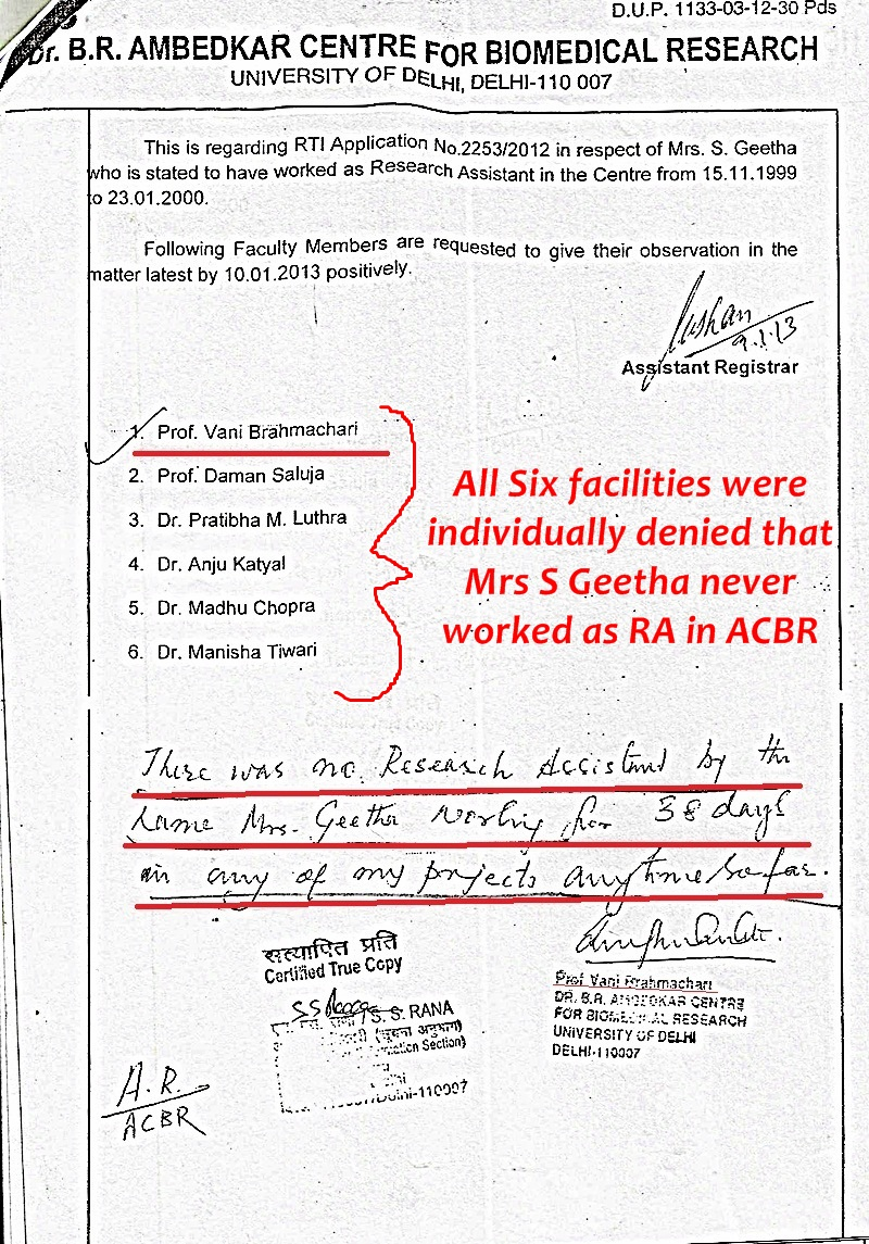 Mrs S-Geetha-case-RTI-reply-by-DU