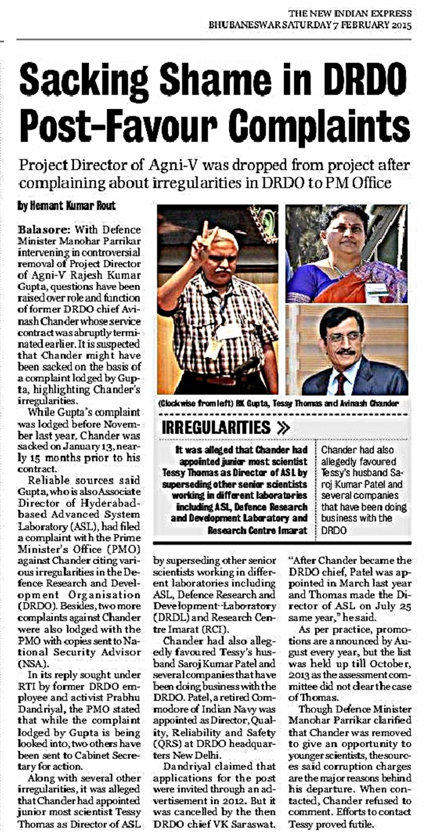 the new indian express 7 feb