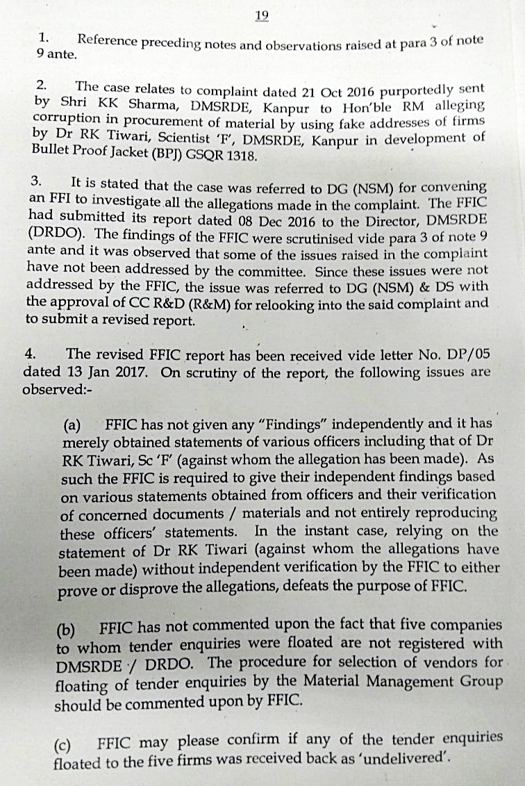 FCC BUSINESS IN DRDO: CORRUPTION IN R&D OF BPJ AT DMSRDE, KANPUR